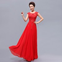 Cheap-Long-Red-Bridesmaid-Dresses-with-Beading-Elegant ...
