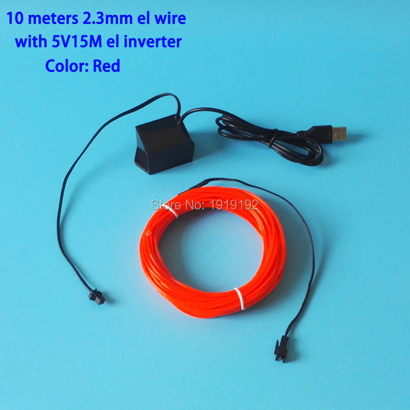 ✅10Meters Blue EL Wire Tube Rope Flexible Neon Cold Light Car Party ...