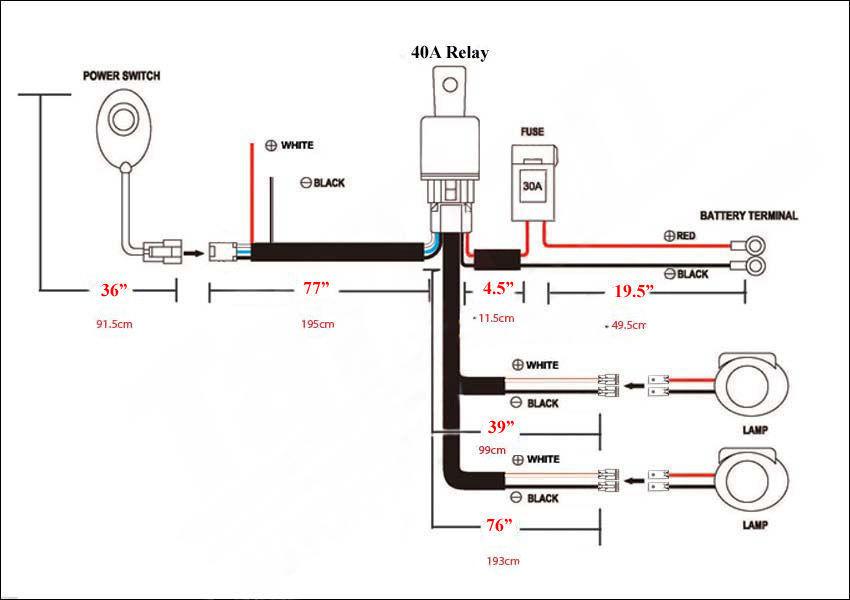 35 led light bar wiring harness