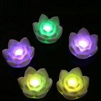 LED Lotus Flower Romantic Love Floral Mood Lamp Night ...