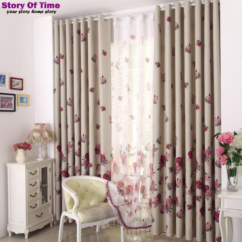 Modern Floral interior decoration Window Curtain Valance