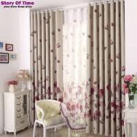 Modern Floral interior decoration Window Curtain Valance ...
