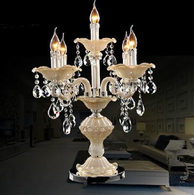 121518 arm led modern lampadari transparent crystal lamp italy dining room crystal table lamp wedding candelabra indoor lighting bedroom kitchen table light candle holder candlestick us 17800 aloadofball Image collections