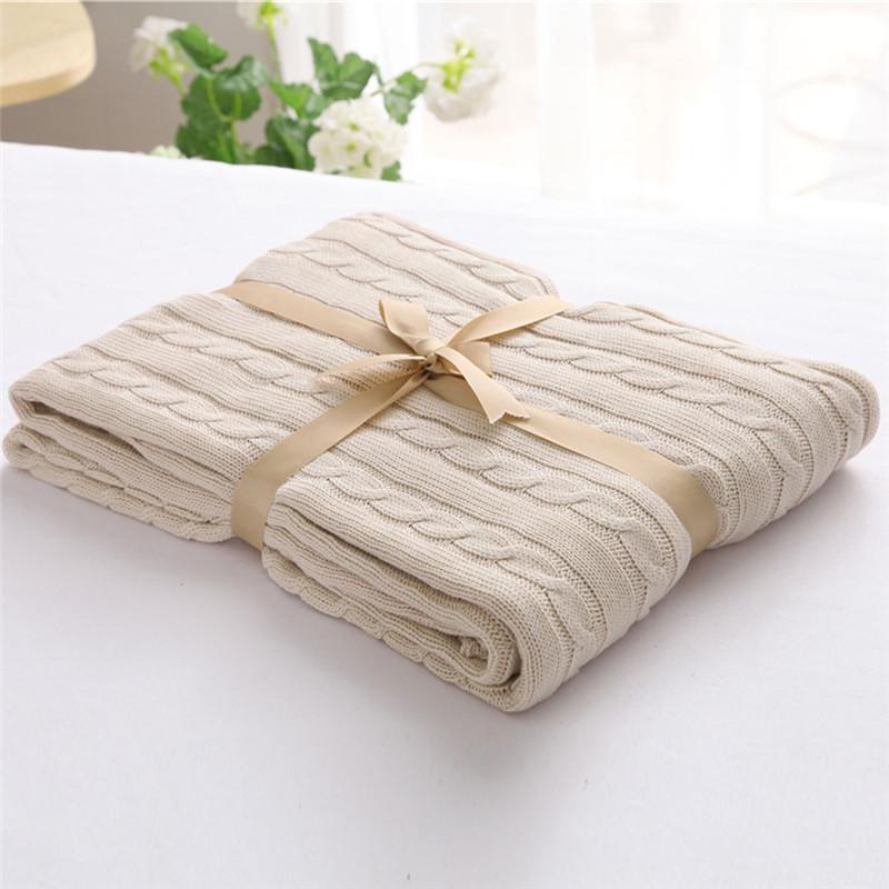 ΞInvierno Caliente punto/punto de algodón Mantas con lininng suave ...