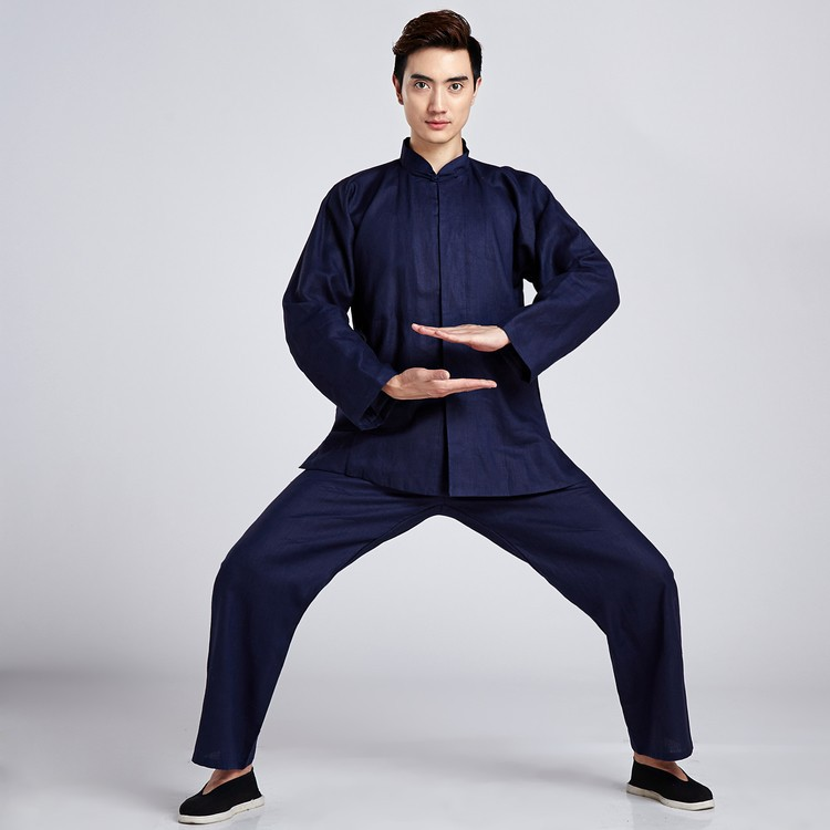 っNovedad hombres solo botón Tang traje chino tai chi kung fu ...