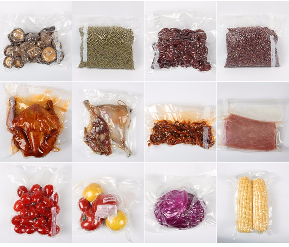 ٩(^‿^)۶Kitchen Vacuum Bag for Food with Pump Vacuum Sealer Bags
