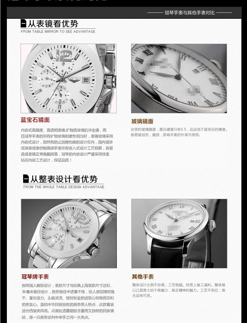 0fb081782bd ③Mulheres Relógios Safira GUANQIN Relógio Grande Mostrador do ...
