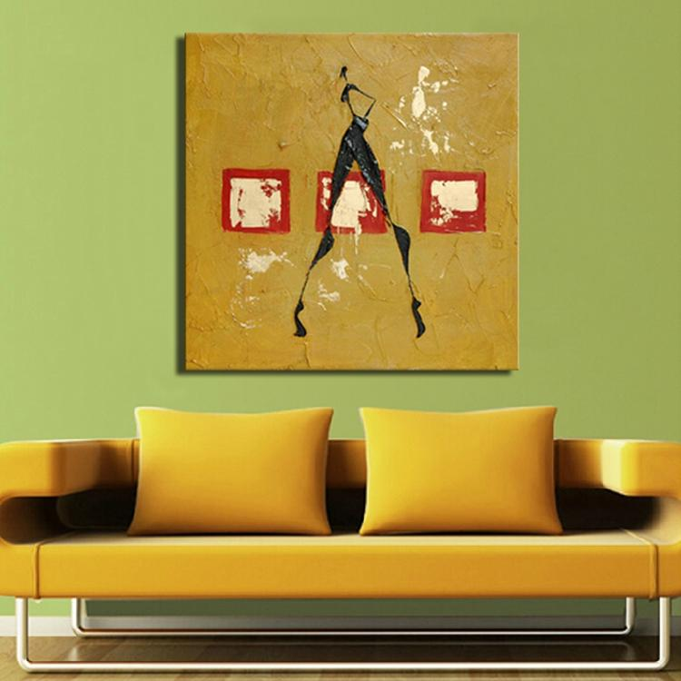 ̀ •́ Handmade Abstract Painting Wall Art Yellow Acrylic Textured ...