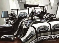 Cars boys bedding sets Race car queen full size bedspread ...