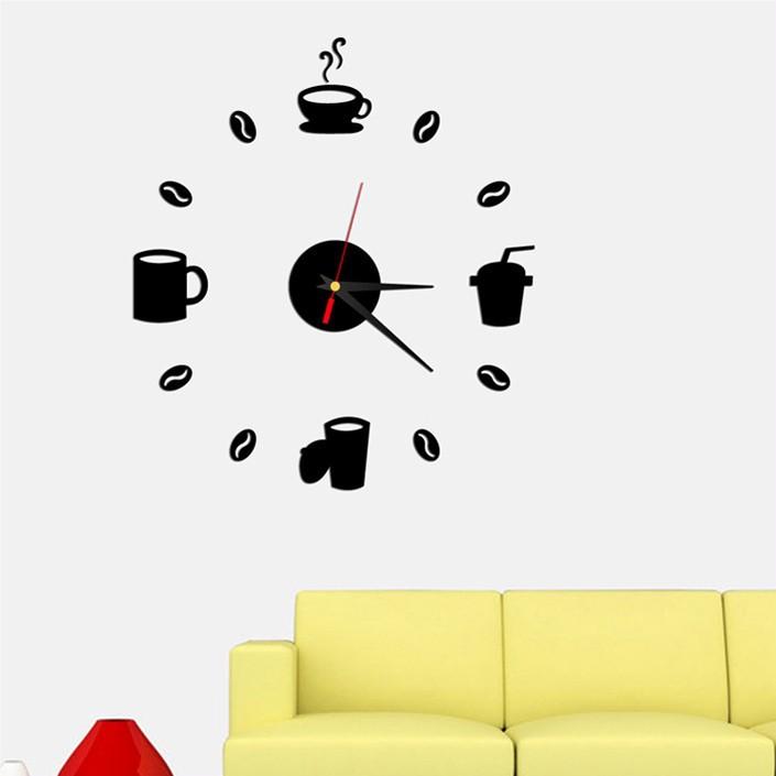 ⃝Moderno 3D reloj Relojes de pared DIY espejo de acrílico de la ...