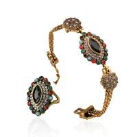 2015 Colorful Turquoise Austria Crystal Elegant Jewelry ...