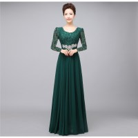 2016 winter Autumn formal dress rose bridal performance