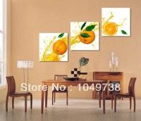 Pintura de frutas frutas laranja painel de parede em tela ...