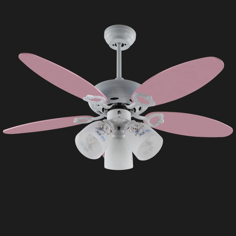 "Decorative Pink Ceiling Fan Light Lovely Design 42"" Light"