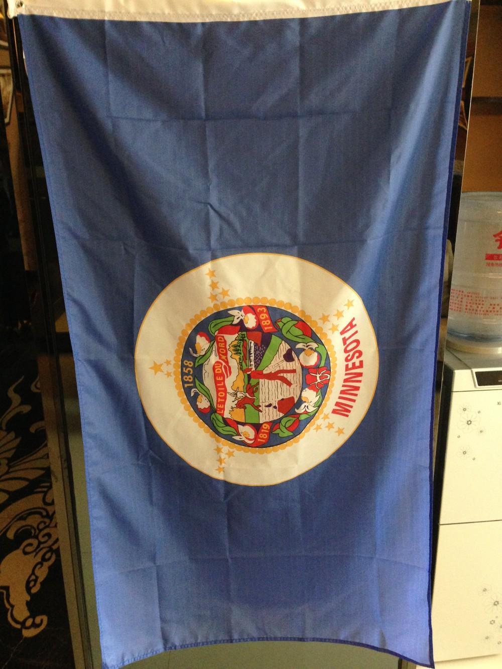 Estado de Minnesota bandera 3x5 ft, envío libre - a829