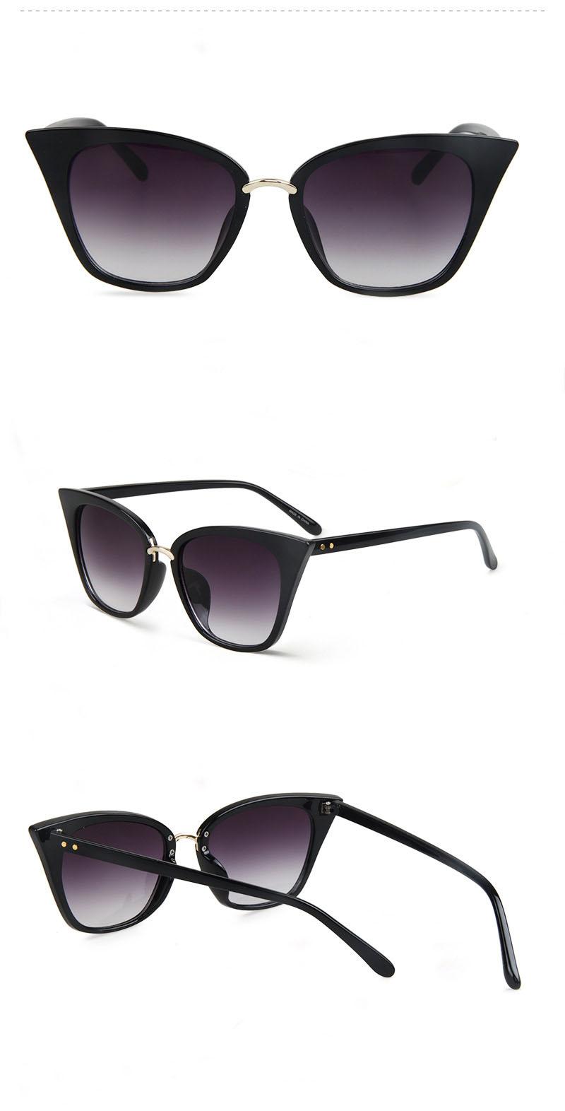 d6619e4cf33921 SARACOCO Femmes Vintage Cat Eye lunettes de Soleil 2017 Marque De Mode La  Conception Anti-réfléchissant UV400 Lunettes de Soleil Femme