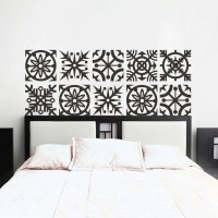 Headboard Wall Decal Geometric Dorm Decor Shabby Chic Star ...