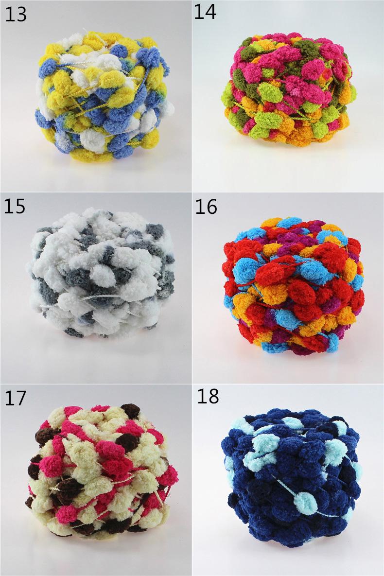 ᐃ520 g/lote colorido teñido pelusa bufanda Hilado para tejer a mano ...
