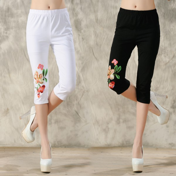 2015 Spring And Summer National Trend Embroidered Legging