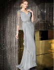 Silver Mother of Bride Dress