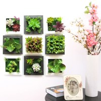 3D Plant Wall Sticker Home Decor Wall Artificial Flowers ...