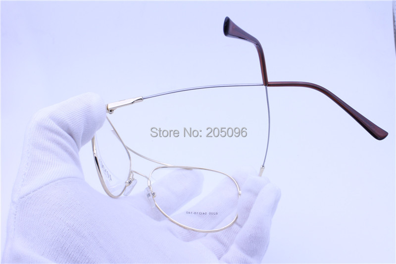 bd0f1c047e6 retailsale 8205 full rim bendable memory titanium dual bridge pilot ...
