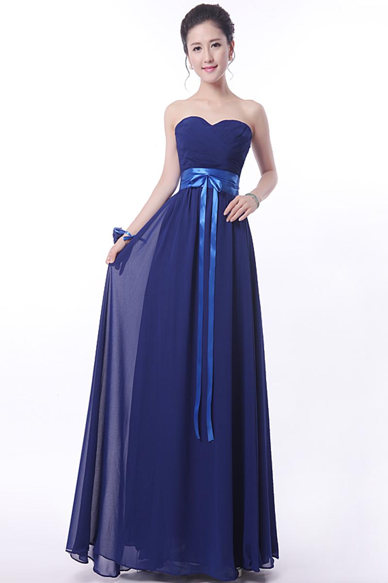 Navy Blue Chiffon Junior Bridesmaid Dresses