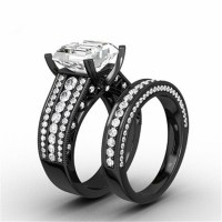 Aliexpress.com : Buy Black Gold Filled Wedding Ring Band
