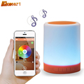 LED touch color change Night Light motion sensor Bedside Lamp Bluetooth Speaker Touch Control Support Mobile