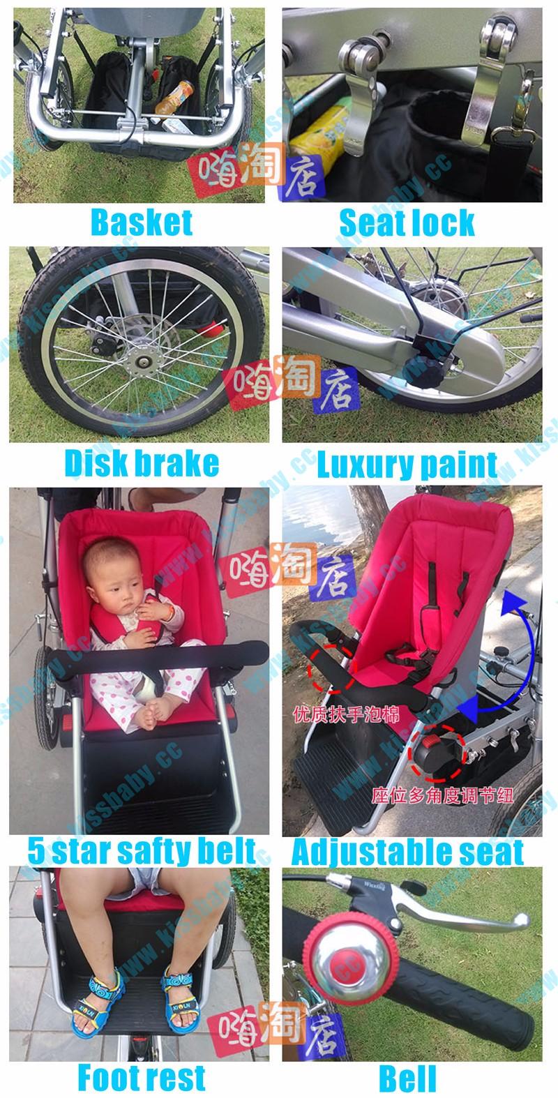 HTB1AYRLOpXXXXbXXFXXq6xXFXXXZ - 3 wheel folding stroller bicycle mother baby taga  nucia bike