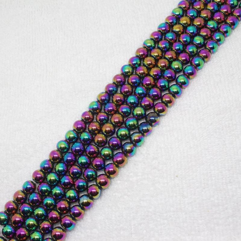 Ch018 Faceted nacres turquoise perles plaqué argent Perles Rosaire Chaîne Bijoux