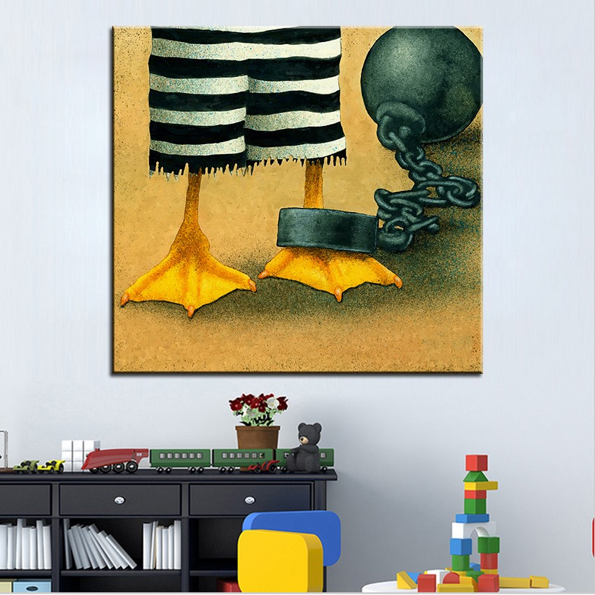 №Large size Printing Oil Painting duck confit Wall painting Wall Art ...