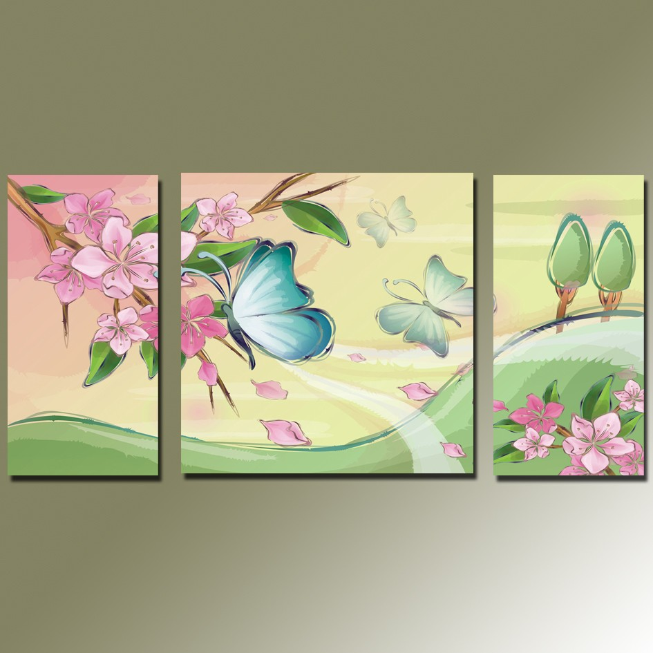 ⊰Free shipping home Decor Canvas Painting Beautiful butterfly and ...