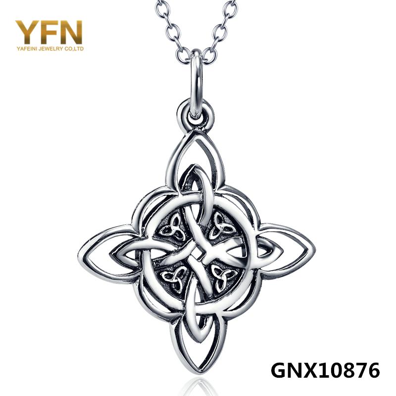 GNX10876 Genuine 925 Sterling Silver Jewelry Trinity
