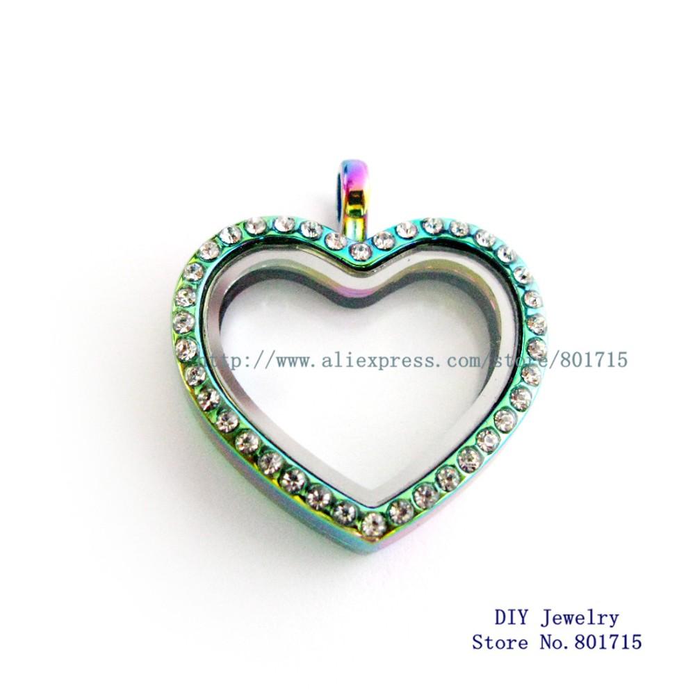 2044fb3b45bd ツ)  ¯Arco Iris color magnético Acero inoxidable colgante de cristal ...