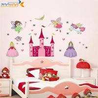 princess castle heart horse angel wall stickers for kids ...