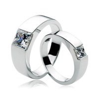 his and her promise ring sets for couple,2 carat NSCD ...