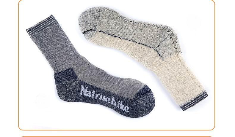 ᐅAl aire libre unisex grueso lana merino Calcetines escalada ...