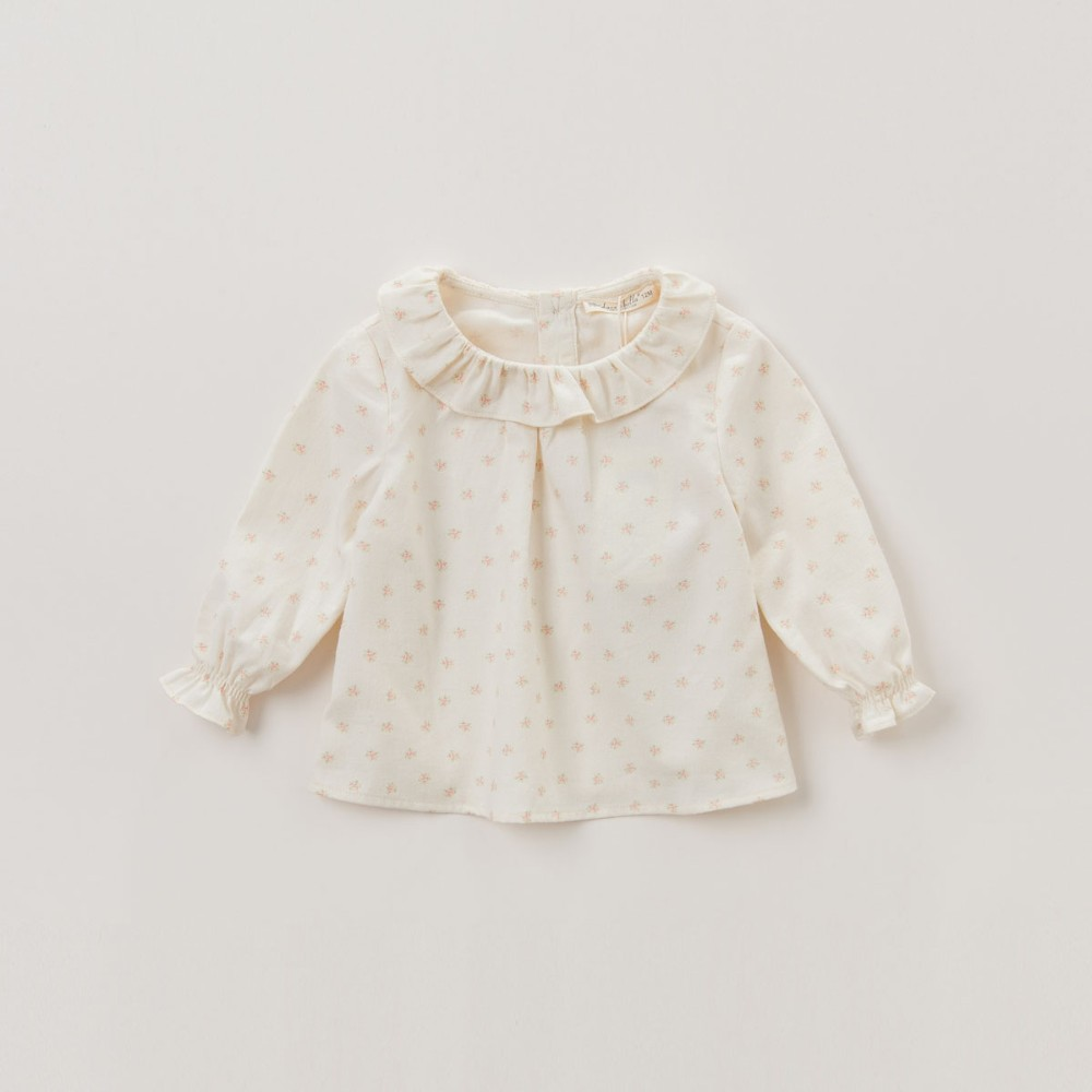 bbe5b32f3f ヾ(^▽^)ノDave bella DB4097 queda do outono do bebê meninas camisa ...