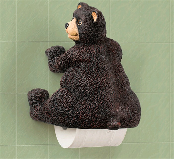 new resin cute bear toilet paper holder creative towel