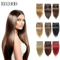 613 Mix Color Straight Human Hair Clip 100 200 Gram Clip ...