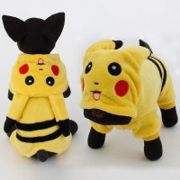 New Arrival Dogs Clothes Cute Cartoon Pikachu Design ...