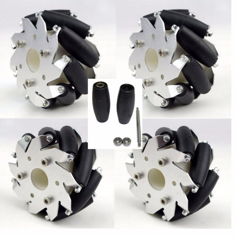 2 X PRO STUNT SCOOTER SILVER NINJA 5 METAL CORE roues 100mm ABEC 9 roulements 11