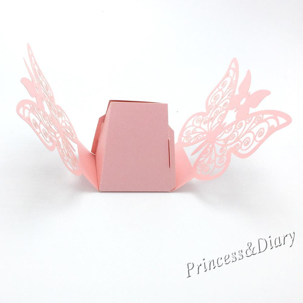 ᗜ Ljഃ50 piezas mariposa del corte del laser caja del favor de la ...