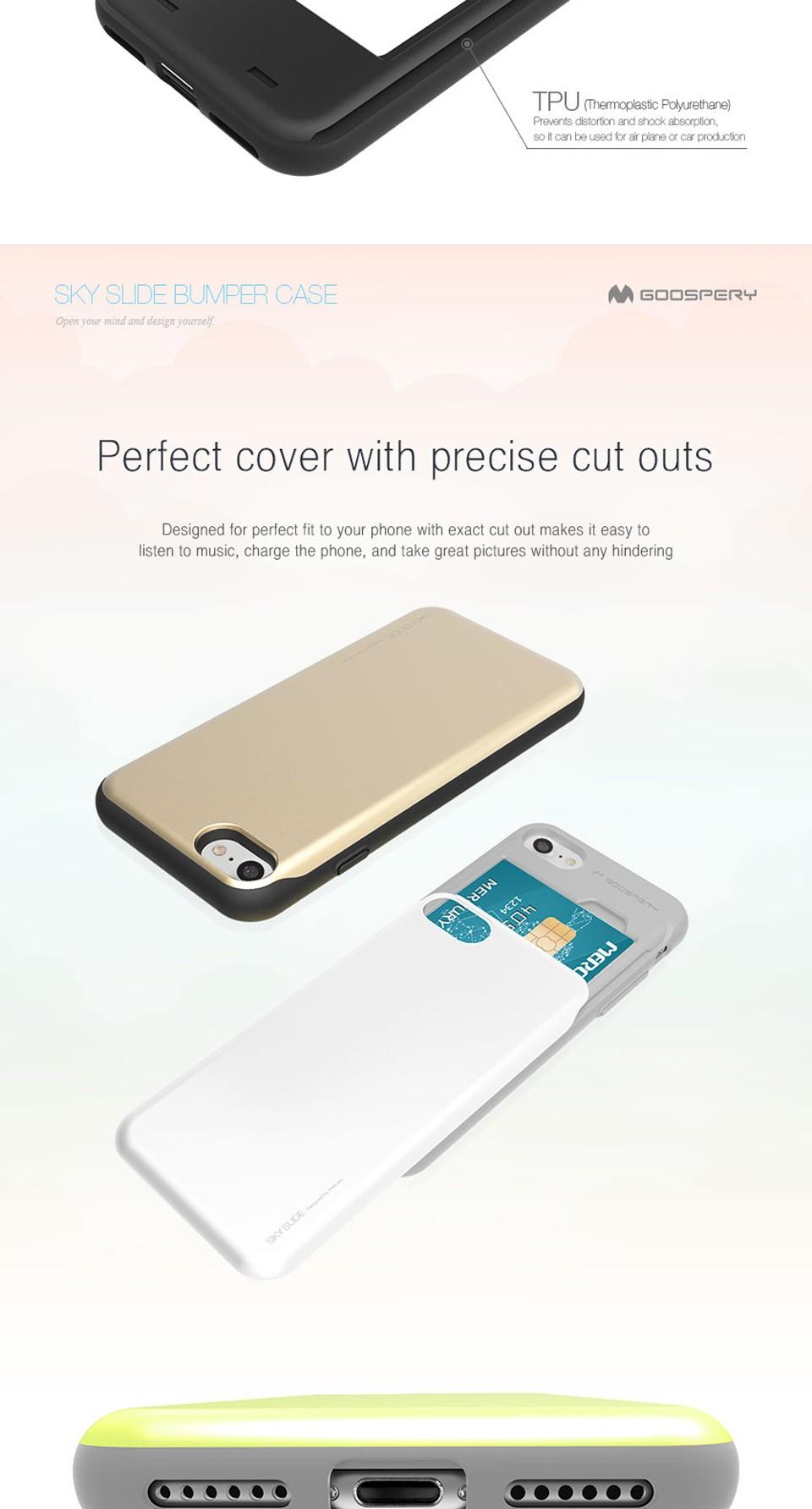 Original Brand Card Wallet Phone Case For Iphone 6 6s 7 Plus Goospery Sky Slide Bumper Red Ip7 Detail Eng 01 02 03 04 05