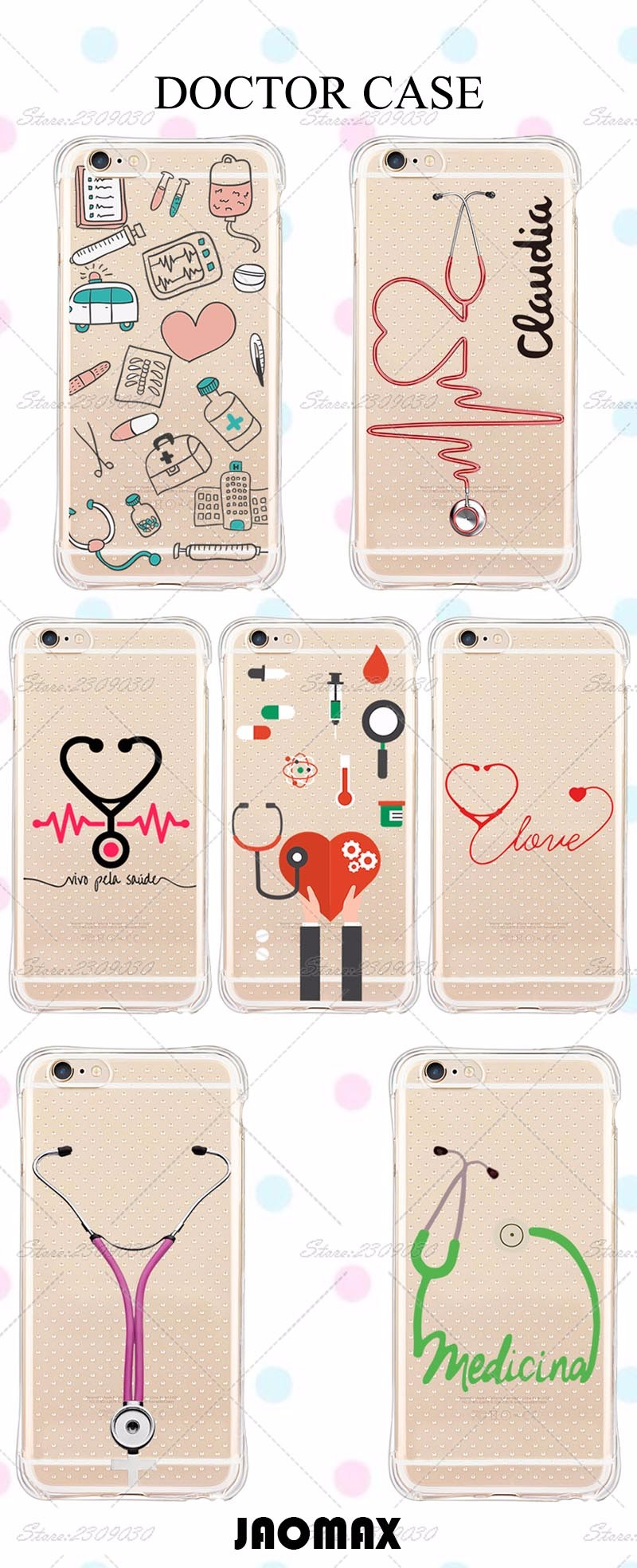 Knock Knock Salle De Bain ~  pink cute medical doctor anti knock phone case for iphone 6 plus