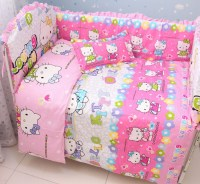 Discount! 6pcs Hello Kitty Baby Bedding Set Boy Baby