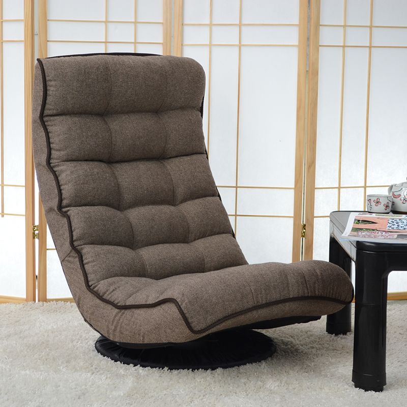 Floor Recliner Chair 360Degree Swivel Folded Japanese Living Room Furniture Modern Reclining