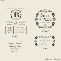 DIY Invites rubber stamp Wedding invitation Rubber Stamp