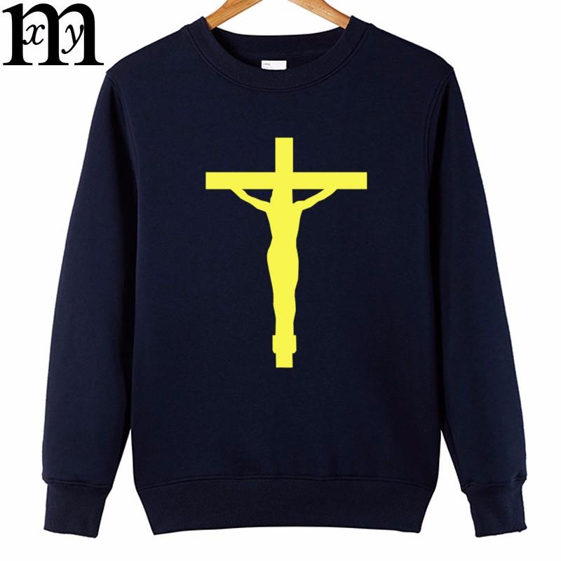 Jésus impression logo coton hommes hoodies 2017 nouveau occasionnel drôle  hoodies sweats à capuche hommes de clothing 185646a77b20